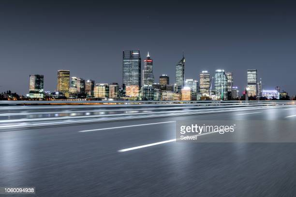 urban road in perth - perth stock pictures, royalty-free photos & images