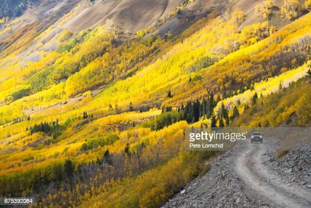 urban road ophir pass, colorado - san juan mountains stock photos and pictures