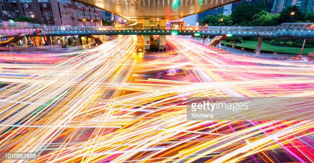 urban road - long exposure stock pictures, royalty-free photos & images