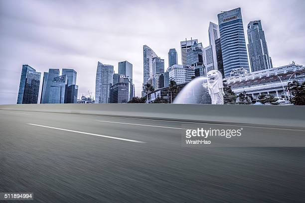 urban road - merlion stock pictures, royalty-free photos & images