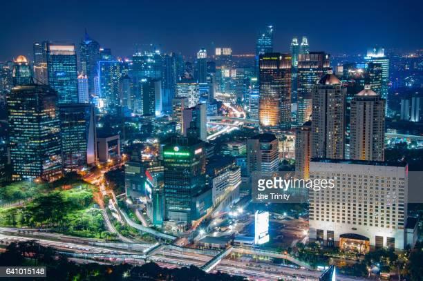 Urban scene / Cityscape of Jakarta Indonesia Capital City