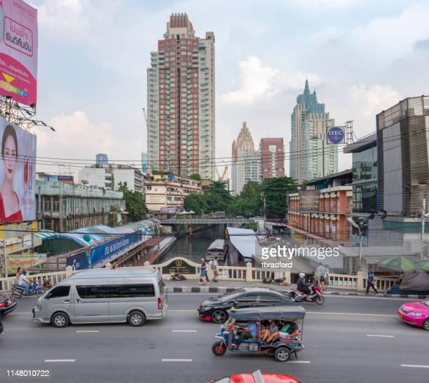 バンコクのアーバンシーン - ラチャダムリ通り ストックフォトと画像
