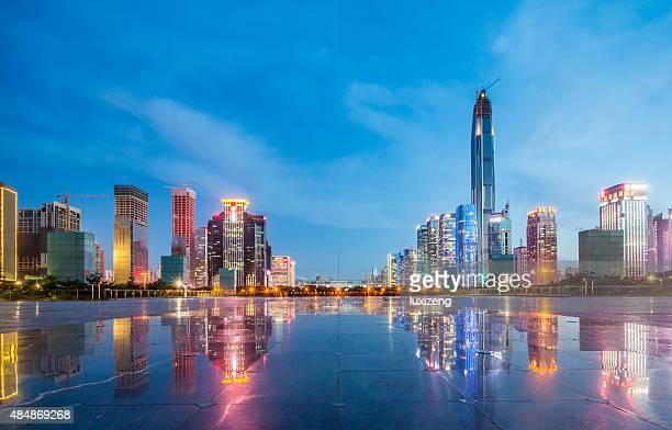 Stadtlandschaft von shenzhen bei Nacht