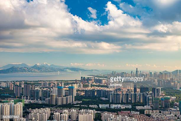 urban scene of shenzhen - guangdong province stock photos and pictures
