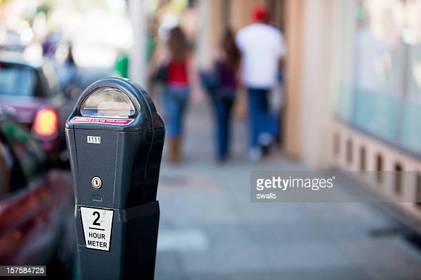 urban scene - parking meter stock photos and pictures