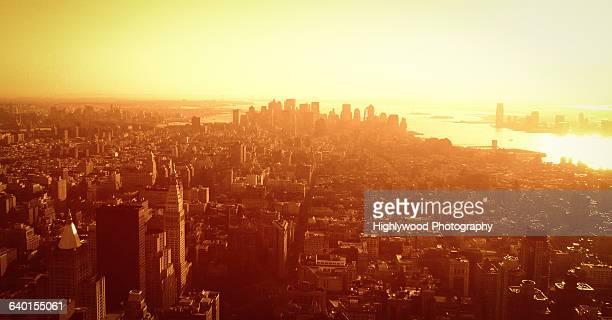 urban scenes from a high angle view - highlywood fotografías e imágenes de stock