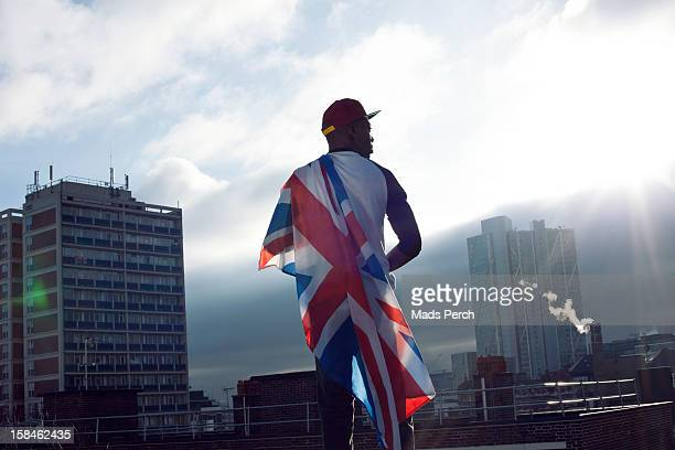 urban shoot, east london - national flag stock pictures, royalty-free photos & images