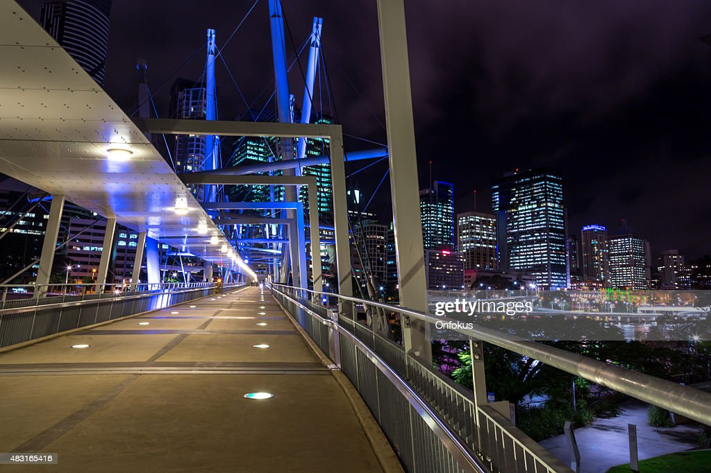 Urban Skylane of Brisbane Australia at Night : Stock Photo