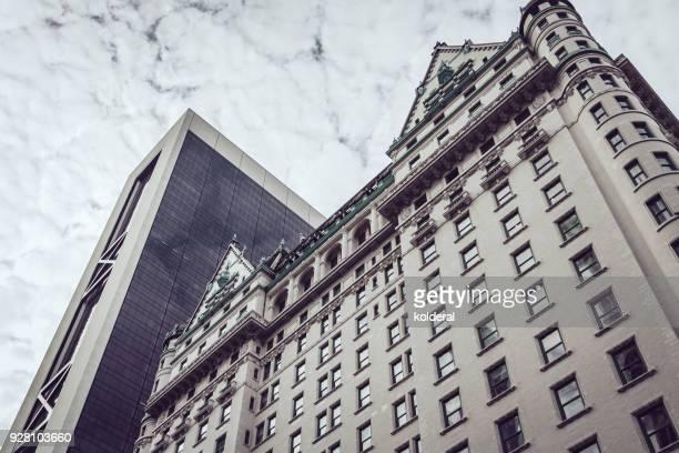 Urban skyline . Fifth Avenue Plaza Hotel, Midtown Manhattan