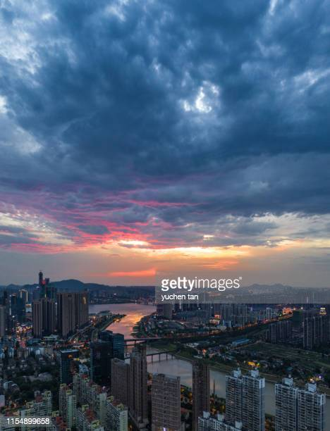 urban skyline in china - changsha stock pictures, royalty-free photos & images