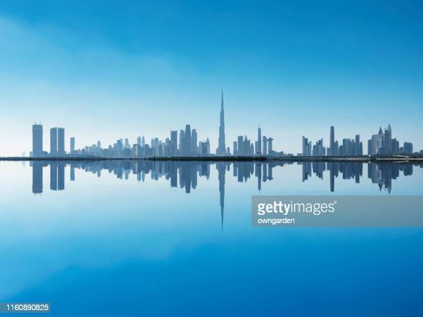 urban skyline in dubai - skyline stock pictures, royalty-free photos & images