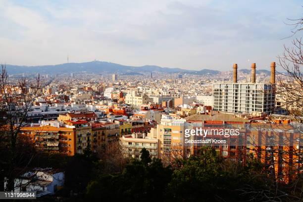 Urban Skyline of Barcelona at Dusk, Spain
