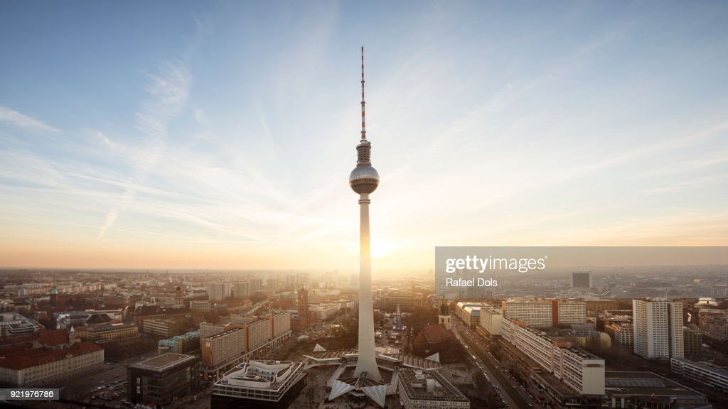 Urban skyline of Berlin : Stock Photo