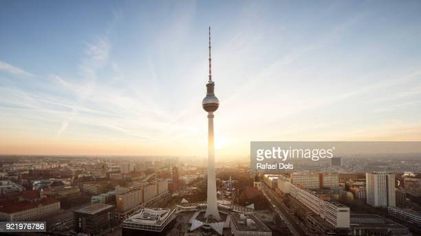 urban skyline of berlin - berlin stock-fotos und bilder