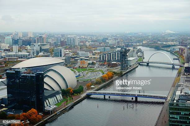 Urban Skyline of Glasgow, Scotland, United Kingdom