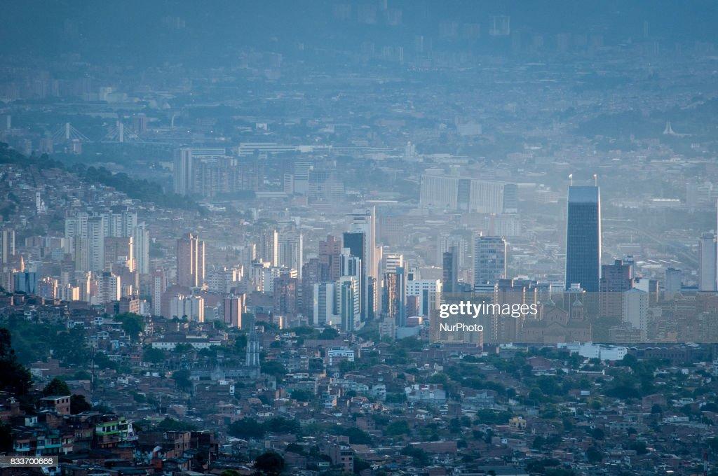 Urban skyline of Medellin, Colombia, on 20 January 2012.