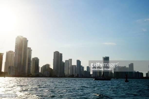 Urban Skyline of Modern Cartagena in the Sunshine, Colombia
