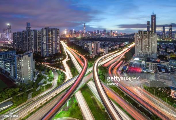 städtischen Skyline von Shenzhen