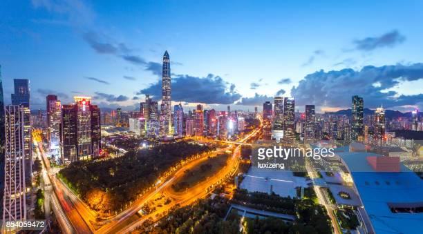 urban skyline of Shenzhen