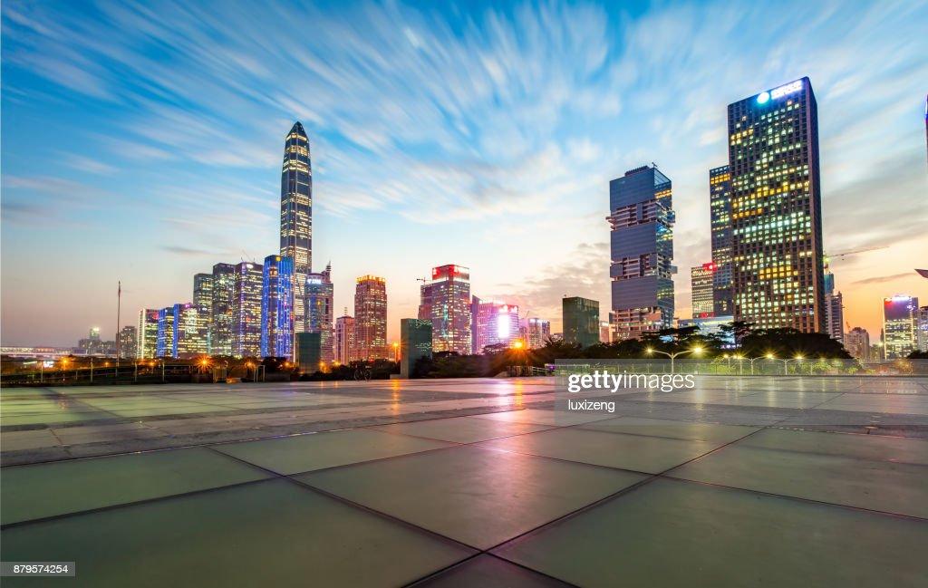 urban skyline of Shenzhen : Stock Photo