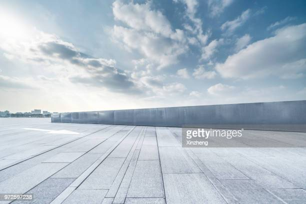 urban skyline, parking lot - man made space stock pictures, royalty-free photos & images