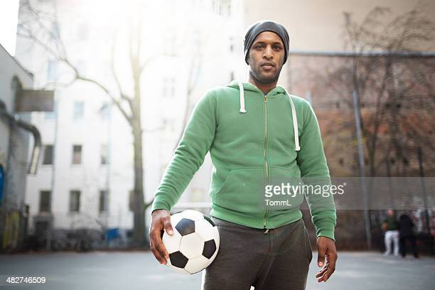 Urban Soccer Sports Guy Portrait
