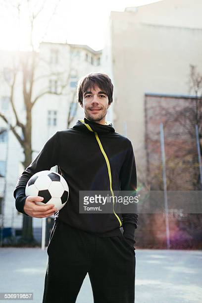 Urban sport Portrait de Joueur de football