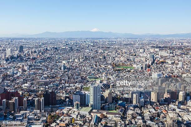 Urban sprawl and Mt Fuji