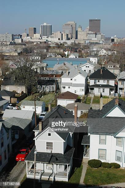 Urban Sprawl, Residential District, Dayton, Ohio, Cityscape Skyline