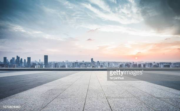 urban sprawl,shanghai - vanishing point stock pictures, royalty-free photos & images