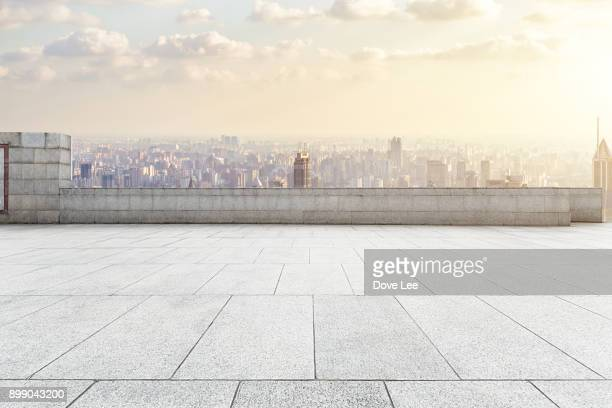 urban square - roof stock photos and pictures