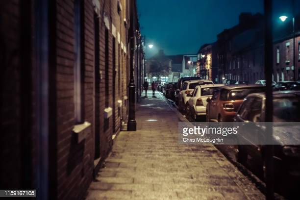urban street at barrow in furness, cumbria - north west england stock pictures, royalty-free photos & images