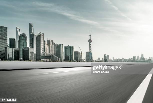 Urban traffic in Shanghai