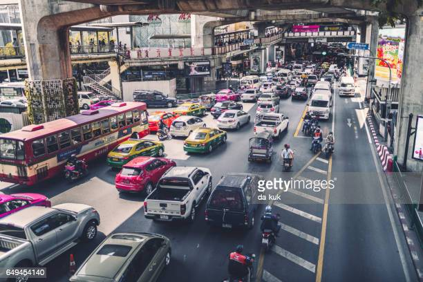 urban traffic - bangkok province stock pictures, royalty-free photos & images