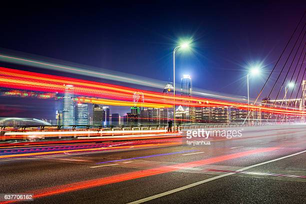 urban traffic with cityscape