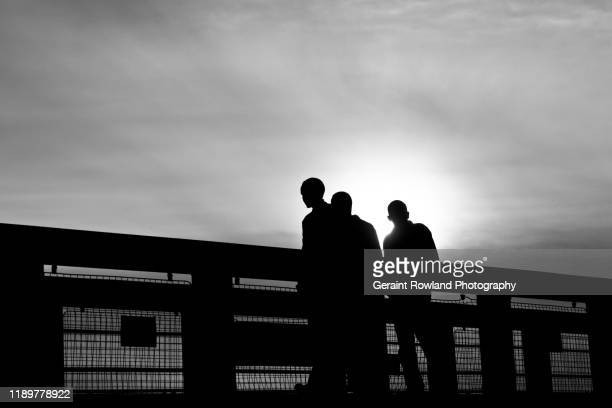 urban uk - in silhouette stock pictures, royalty-free photos & images