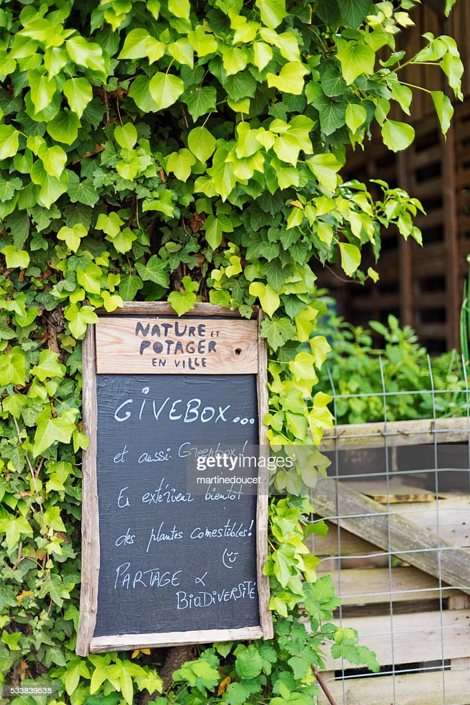 Urban vegetable garden spot, Espace Darwin Bordeaux, France. : Stock Photo