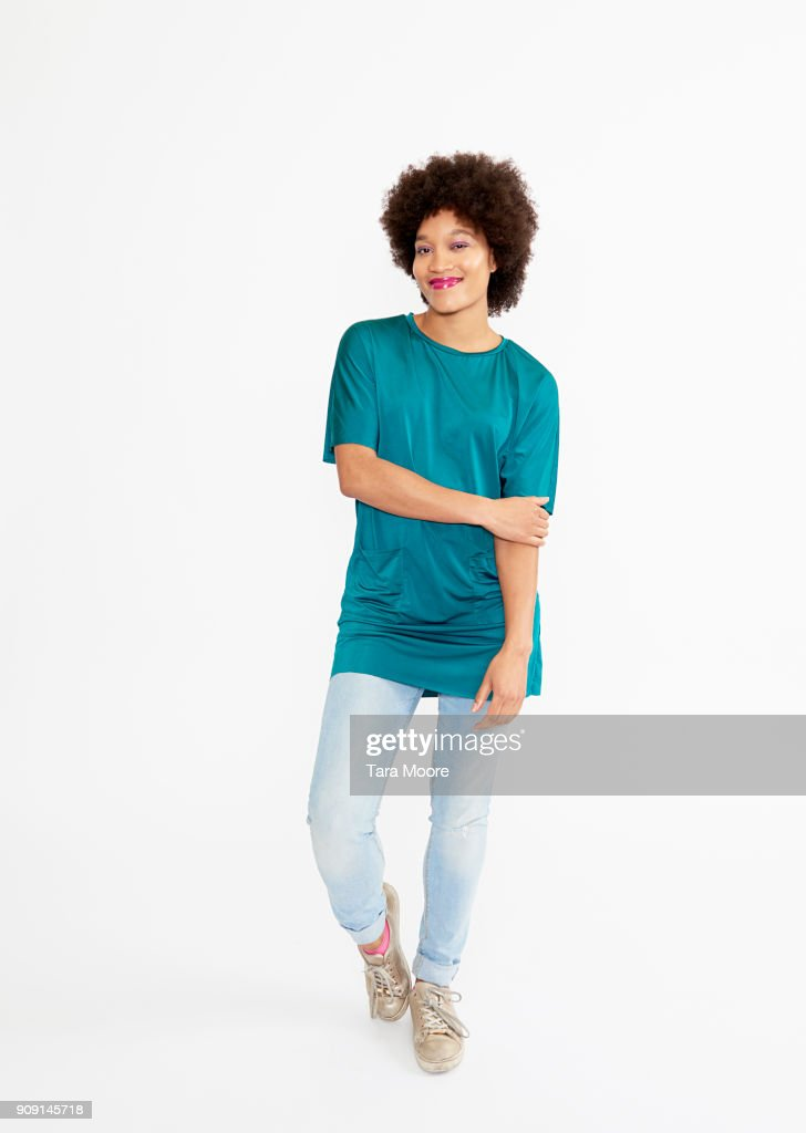 urban woman standing : Stock Photo