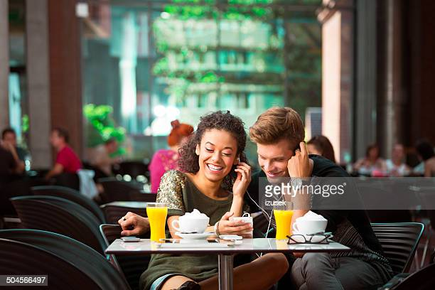 Urban young people in cafe