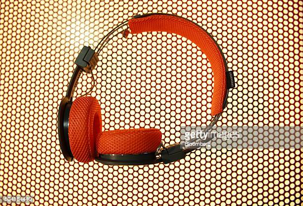 Urbanears Hellas Active wireless headphones are displayed during the 2016 Consumer Electronics Show in Las Vegas Nevada US on Friday Jan 8 2016 CES...