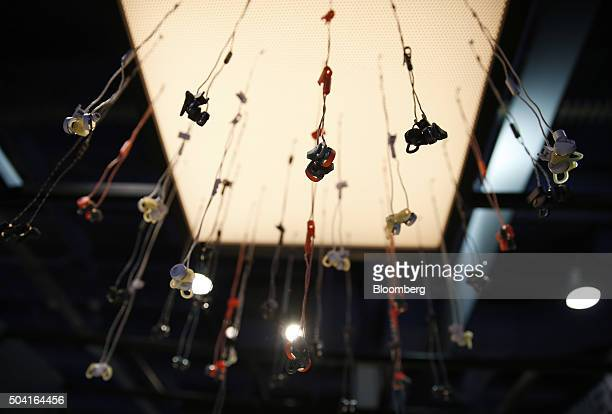 Urbanears Reimers inear headphones are displayed during the 2016 Consumer Electronics Show in Las Vegas Nevada US on Friday Jan 8 2016 CES is...