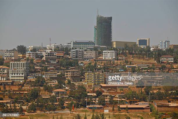 a view of the center of the city and its new offices buildingsLocated at Rwandas geographical heart the rapidly growing City of Kigali is the...