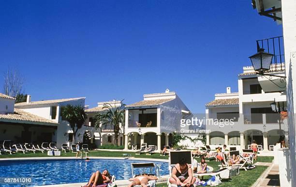 A urbanization in Marbella Malaga Andalusia Spain