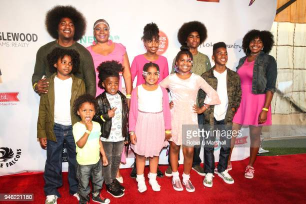 UrbanMorgan family attends the 12th Annual Santee High School Fashion Show at Los Angeles Trade Technical College on April 13 2018 in Los Angeles...