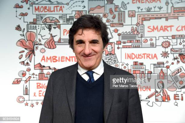 Urbano Cairo CEO of RCS Media Group poses during the launch of Corriere Innovazione at the Unicredit Pavilion on February 23 2018 in Milan Italy...