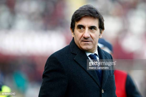 Urbano Cairo chairman of Torino FC looks on before the Serie A football match between Torino FC and Ac Chievo Verona The match ended in a 11 tie
