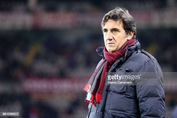 Urbano Cairo chairman of Torino FC looks on before the Serie A football match between Torino FC and Atalanta Bergamasca Calcio The match ended in a...