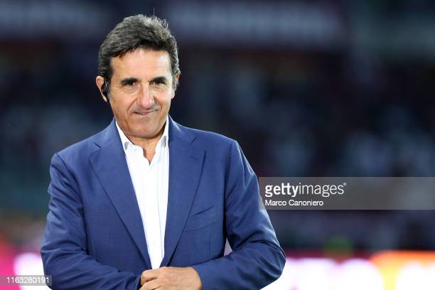Urbano Cairo, chairman of Torino FC, looks on before the UEFA Europa League playoff first leg football match between Torino FC and Wolverhampton...