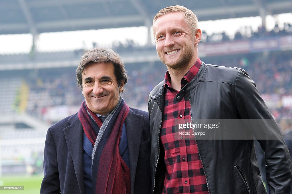 Urbano Cairo, president of Torino FC, and Kamil Glik, former... : Nachrichtenfoto