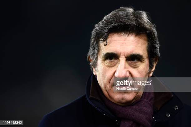 Urbano Cairo, president of Torino FC, looks on prior to the Serie A football match between Torino FC and Atalanta BC. Atalanta BC won 7-0 over Torino...